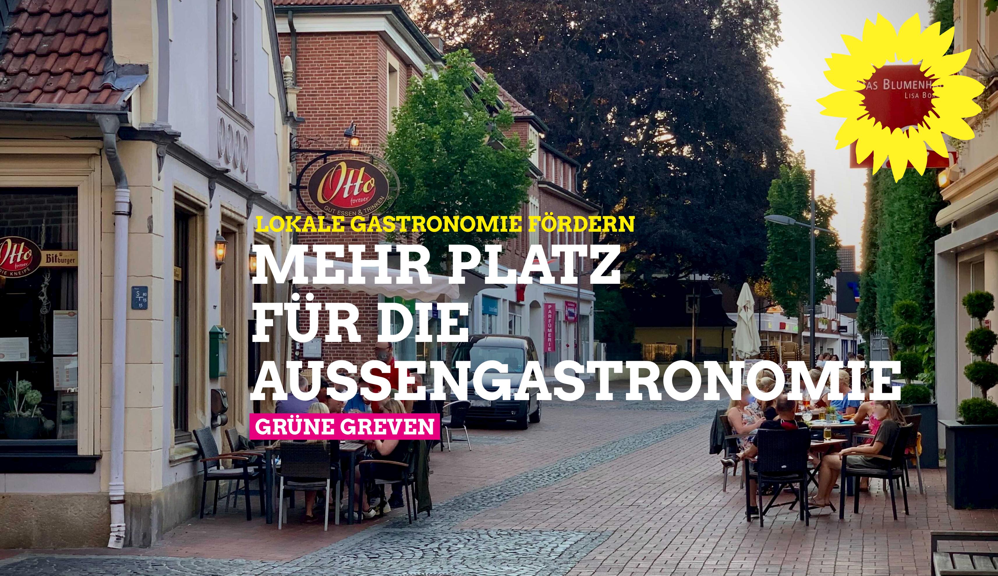 Mehr Platz für die Außengastronomie in Greven