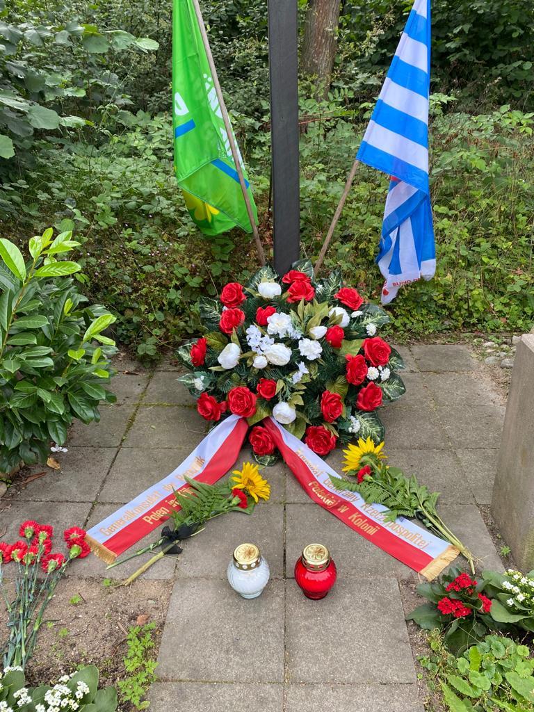 Gedenken an die NS-Opfer Franciszek Banaś und Wacław Ceglewski unter Beteiligung des Polnisches Konsulats